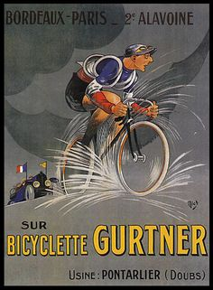 1924 MICH BORDEAUX PARIS SUR BICYCLETTE GURTNER PONTARLIER