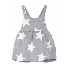 Every Little will look utterly adorable in ourStars dress. Lightweight, comfortable and perfect for every season, especially spring and summer! A-line cut, tie in back High quality cotton blend Fits true to size
