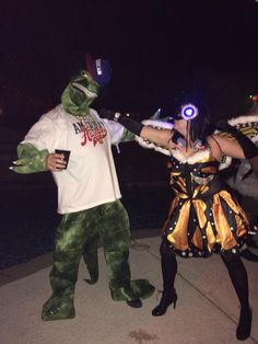 Mothra and Godzilla battle for BEER and world domination. mothra costume