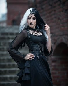 Steampunk Fashion, Gothic Fashion, Gothic Models, Goth Women, Glamour Shots, Gothic Outfits, Alternative Girls, Gothic Girls, Gothic Beauty