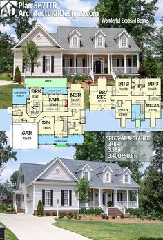Architectural Designs House Plan 5671TR. 3+BR | 3.5BA | 3,500+SQ.FT. Add my finished basement = perfection!