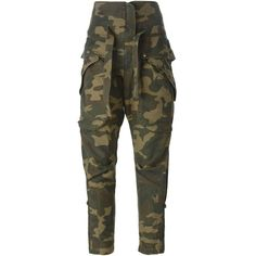 Faith Connexion Camouflage Cropped Trousers ($531) ❤ liked on Polyvore featuring pants, capris, multicolour, cotton trousers, black trousers, black camo pants, cropped capri pants and multi colored pants