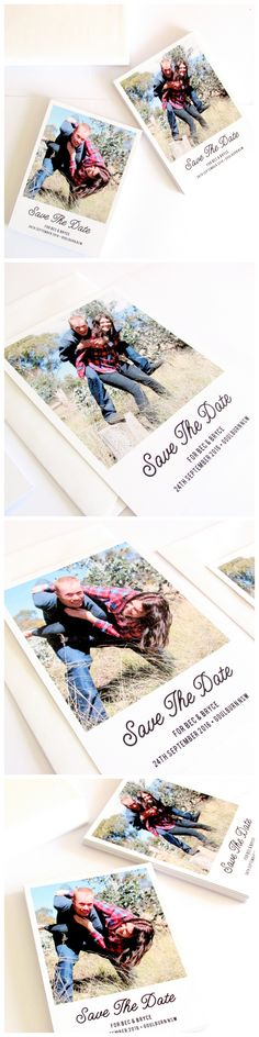 Wedding save the date, Polaroid style! So adorable!