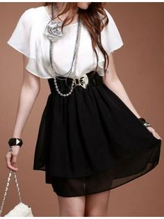 Layered Lace Dress with Belt