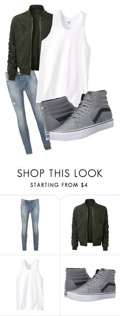 """Rp"" by fschlaud on Polyvore featuring AllSaints, LE3NO, Russell Athletic, Vans, men's fashion and menswear"
