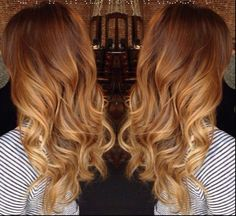 Image result for balayage ombre red hair
