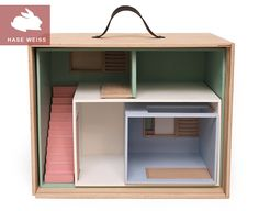 Dollhouse with suitcase