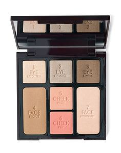 Makeup palette with pale pink, taupe & chocolate brown shades