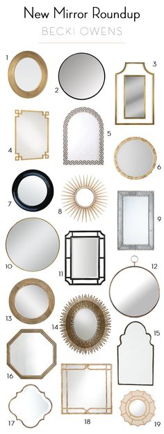 BECKI OWENS - A new roundup of some favorite mirrors today on the blog!