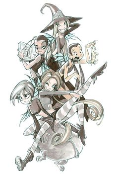 A little flashback to W.I.T.C.H. I loved this cartoon!