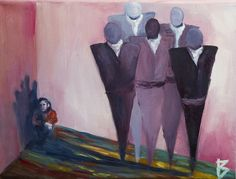 Title: Corner life  #oil #painting #pink #colors #fear