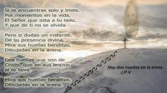 JESÚS PAN Y VIDA: Hay dos huellas en la arena,  Dibujadas a tu lado