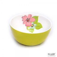 Hi-Luxe Serving Bowls: Buy Hi Luxe Double Clr Serving Bowl 1 Pc, Green Online | Oyekitchen.com
