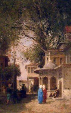 Germain Fabius Brest, La rue - Huile sur toile, Musée de Pera, Istanbul