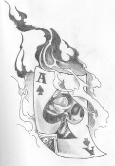 Related images of ace of spades drawing. Pencil Art Drawings, Art Drawings Sketches, Tattoo Drawings, Ace Of Spades Tattoo, Card Tattoo Designs, Spade Tattoo, Desenho Tattoo, Designs To Draw, Sleeve Tattoos