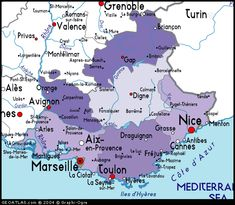 Kaart van Provence