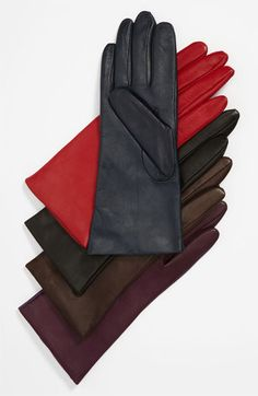Fownes Brothers 'Basic Tech' Cashmere Lined Leather Gloves (Nordstrom Exclusive)   Nordstrom