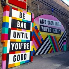 We'll take this good advice on board while we're wandering through Shoreditch.