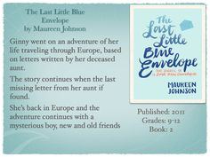 Young Adult Reading Machine: The Last Little Blue Envelope by Maureen Johnson