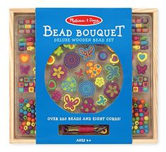 Kids' Jewelry Making Kits - Melissa  Doug Bead Bouquet Deluxe Wooden Bead Set With 220 Beads for JewelryMaking * Click on the image for additional details.