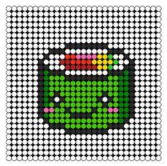 Sushi Perler Bead Pattern | Bead Sprites | Food Fuse Bead Patterns
