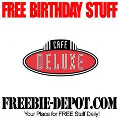 BIRTHDAY FREEBIE – Cafe Deluxe - FREE BDay Dessert