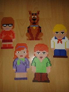 Scooby-Doo and the gang hama beads by Peter Potter  - https://www.facebook.com/pages/Hama-Bead-Patterns/420152718049948
