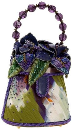 Trendy Women's Purses : Mary Frances Lavender Cosmos Evening Bag Unique Handbags, Beautiful Handbags, Beautiful Bags, Vintage Purses, Vintage Bags, Vintage Handbags, Mary Frances Purses, Mary Frances Handbags, Beaded Purses