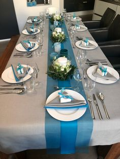 Confirmation Table Decoration Turquoise – … – … - All For Decorations Summer Table Decorations, Decoration Table, Baby Shower Decorations, Table Turquoise, Wedding Table Deco, Wedding Napkins, Wedding Decor, Rustic Wedding, Lace Wedding