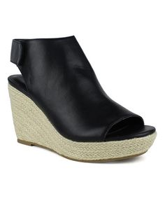 Another great find on #zulily! Black Cosmo Wedge Espadrille by Mark & Maddux #zulilyfinds