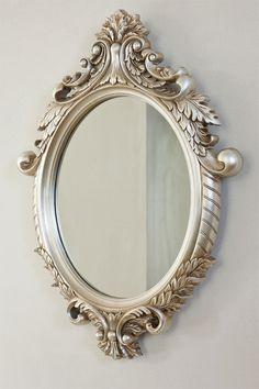 Bathroom Mirror New Zealand beautiful ornate vittoria wall silver wall mirror | jewelry store