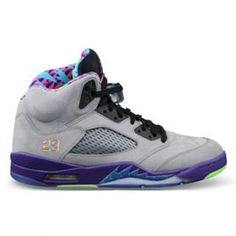 Air Jordan 5 Bel Air Cool Grey/Court Purple-Game Royal-Club Pink  $104.07 http://www.jordanpatros.com