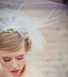 Makeup & Hair by Ashley Gannon  Hairpiece by BeSomethingNew  Photo by Coco Gallery