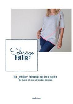 """Die """"schräge Hertha"""" - Ebook - Nähanleitungen bei Makerist"""