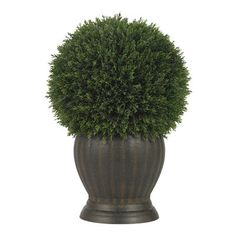 Nearly Natural 4123 Cedar Ball Topiary Silk Permanent Plant