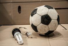 Die Lampe aus einem Fußball