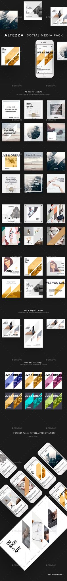 Altezza Social Media Pack — Photoshop PSD #trending pack #banners • Download ➝ https://graphicriver.net/item/altezza-social-media-pack/19431592?ref=pxcr
