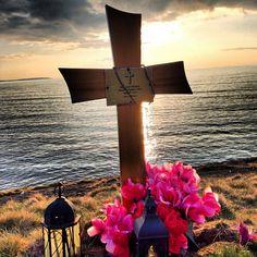 Beautiful Cross - (Memorial) on Cliffs near Bundoran, Donegal County