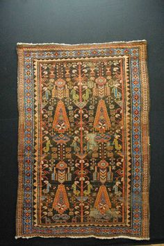 Antique tapis Malayer, 1930, 182x127cm