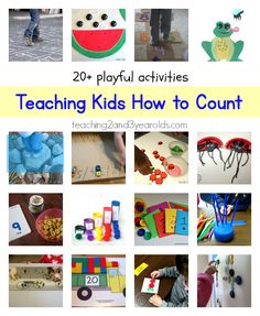 20 + playful activities for teaching kids how to count from Teaching 2 and 3 Year Olds