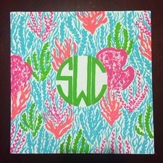 Hand Painted Lilly Pulitzer Monogrammed by CraftingCollegeGirl Best Canvas, Cute Canvas, Canvas Paintings, Canvas Art, Rho Gamma, Painted Signs, Hand Painted, Pottery Painting Designs, Dorm Stuff