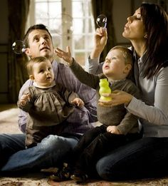 en famille avec leurs enfants
