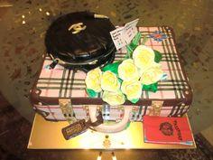 Beautiful Suitcase Cake