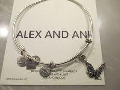 Alex and Ani BUTTERFLY Charm Bangle Bracelet Russian SILVER N #AlexandAni #Bangle