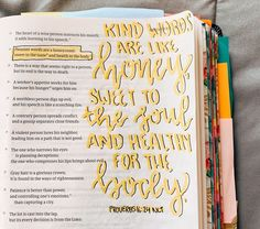 Proverbs 16 24 - Kind words are like honey sweet to the soul and healthy for the body scripture proverbs delight ministries delight ministries proverbs 16 24 Bible Verses Quotes, Jesus Quotes, Bible Scriptures, Godly Quotes, Faith Bible, Bible Drawing, Bible Doodling, Proverbs 16 24, Bibel Journal