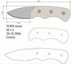 Чертежи ножей для изготовления. Часть 2