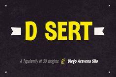 DSert - 30% off! by Latinotype on @creativemarket