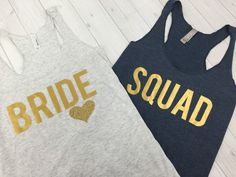 Brides Squad Bride Tribe Tank Bridesmaid by BridalBlissCouture