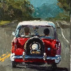Nash Metropolitan - painting by Elaine Hughes Curiosity, Painting, Painting Art, Paintings