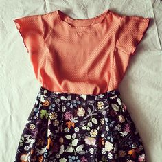 #Rock mit #Bluse #nähen  #sewing for #girls  #paneltee #skirt